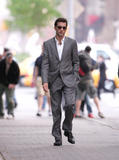 "Clive Owen filming ""Duplicity"" May 7, 2008 at Columbus Circle in NYC"