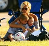 Victoria Beckham Puts the MILF in Soccer Mom-1st United States Match/Practice with the Kids MQ5