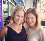 Candace Cameron & Andrea Barber attend the NKOTB Concert in Los Angeles 07/05/13
