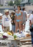 **ADDS** Selena Gomez in a Bikini on the set of Monte Carlo in Monaco 06-25-2010