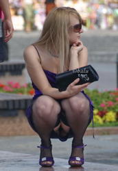 Candid in Nylons - Your Daily Porn Pictures Galleries